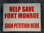 Save Ft. Monroe Yard Sign